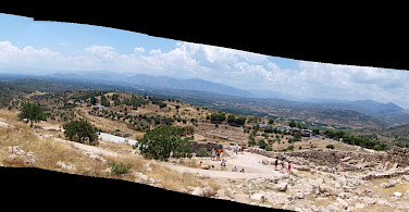 Pano of the archeaological ruins in Mycenae, Argolis, Peloponnese, Greece. Flickr:linmtheu