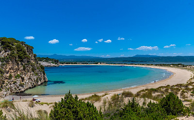 Crazy beaches on this Peloponnese and Saronic Islands Bike Tour! Photo via TO