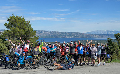 Cycling party enjoying the Dalmatia Tour between Dubrovnik and Split in Croatia. Photo via TO
