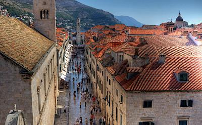 Famous Stradun Street in Old Town in Dubrovnik, Croatia. Flickr:Michael Caven