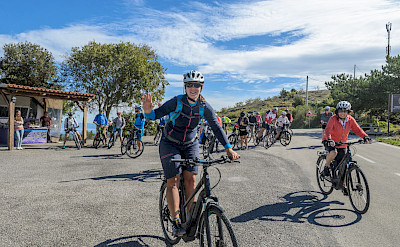 Group biking the Dubrovnik to Split Dalmatia Bike Tour in Croatia. Photo via TO