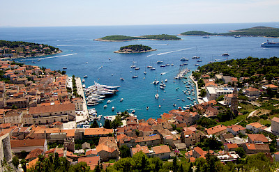 Harbor of Hvar Island, Dalmatia, Croatia. Photo via Flickr:Ramon