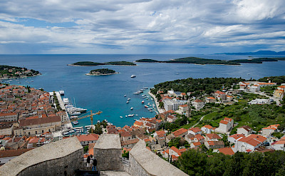 Great fortress sits on Hvar Island on the Dalmatian Coast in Croatia. Photo via TO