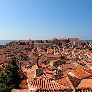 Dubrovnik's famous orange roofs overlooking the Adriatic Sea in Croatia. Flickr:csw27