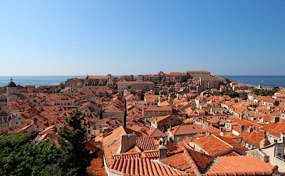 Dubrovnik's famous orange roofs overlooking the Adriatic Sea in Croatia. Flickr:csw27