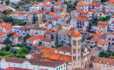 The characteristic orange roofs of Hvar Island, Dalmatia, Croatia. Flickr:Arnie Papp