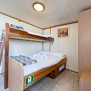 Bunk beds on on Pape Privi Ship - Dalmatia Croatia Bike & Boat Tours
