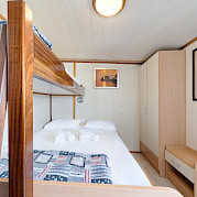 Triple or double bed cabin on Pape Privi Ship - Dalmatia Croatia Bike Tour