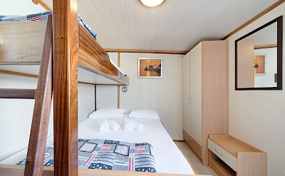 Triple or double bed cabin on Pape Privi Ship - Dalmatia Croatia Bike & Boat Tours