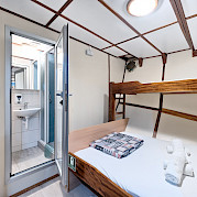 Cabin layout on Pape Privi Ship - Dalmatia Croatia Bike & Boat Tours
