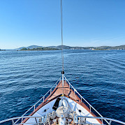 At sea on Pape Privi Ship - Dalmatia Croatia Bike Tour