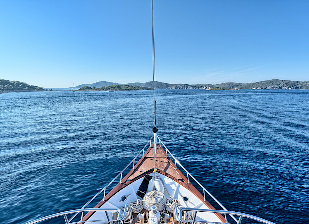 At sea on Pape Privi Ship - Dalmatia Croatia Bike & Boat Tours