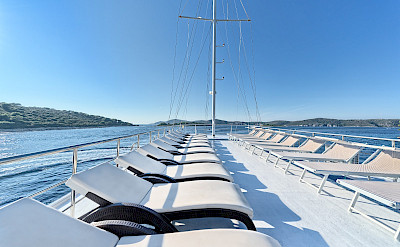 Sun deck on Pape Privi Ship - Dalmatia Croatia Bike & Boat Tours