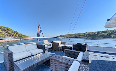 Above deck on Pape Privi Ship - Dalmatia Croatia Bike & Boat Tours
