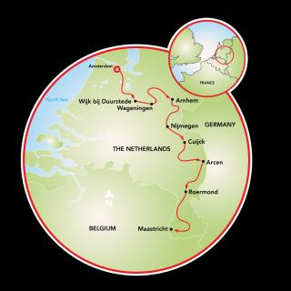 World War II Battlefield Cruise in Holland Map