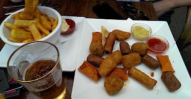 Fried treats in Amsterdam, North Holland, the Netherlands. Flickr:Fenla Balme