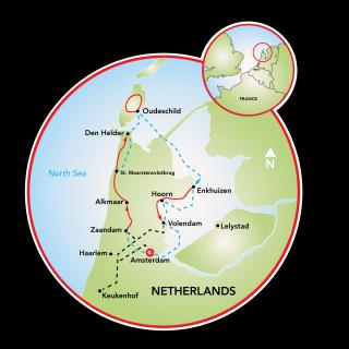 Bike and Sail the Tulips Map