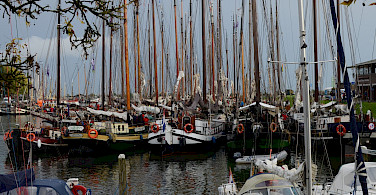 Lively harbor in Enkhuizen, the Netherlands. Flickr:Marcus Meissner