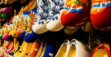 Klompen for sale in Zaanse Schans in Zaandam, the Netherlands. Flickr:Zicario van Aalderen