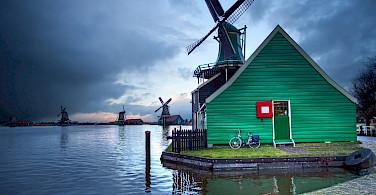 Storms over the Zaanse Schans in Zaandam, North Holland, the Netherlands. Flickr:Anne Dirkse