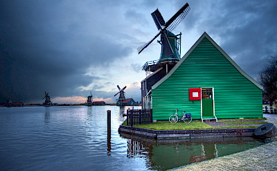 Storms over the Zaanse Schans in Zaandam, North Holland, the Netherlands. Flickr:Anne Dirkse