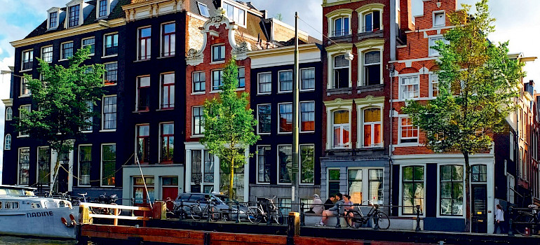 Amsterdam's famous gables in the Netherlands.