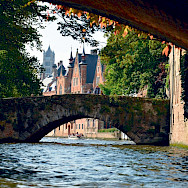 Canals abound in Amsterdam and Bruges.