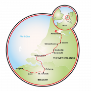 Cruzeiro cultural de Amsterdã a Bruges Mapa