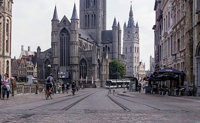 Biking in Ghent, Belgium. Flickr:Ed Webster