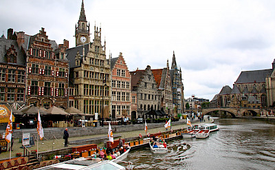 Boating in Ghent in East Flanders, Belgium. Flickr:Alain Rouiller