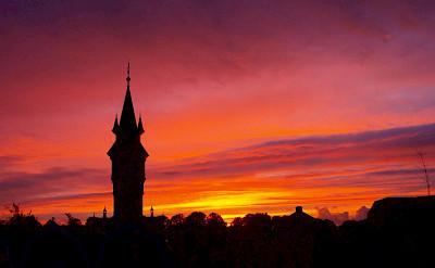 Sunset over Schoonhoven, the Netherlands. Flickr:Diet Bos