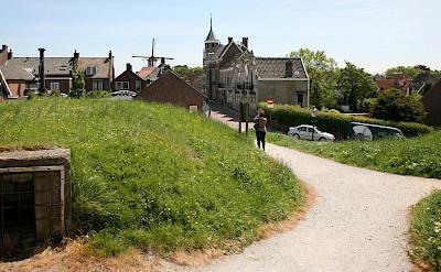 Bike path through Willemstad, North Brabant, Belgium. Flickr:bert knottenbeld
