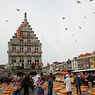 Famous cheese market in Gouda, the Netherlands. Flickr:bert knottenbeld
