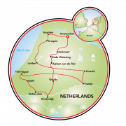 Highlights of the Culture of Holland Map