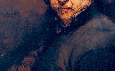 Portrait of Rembrandt van Rijn.