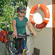 Ready to cycle. Bikes on board the Mecklenburg | Bike & Boat Tours
