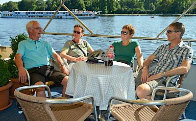 New friendships on board Mecklenburg | Bike & Boat Tours
