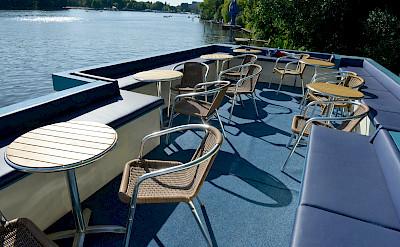 Sun deck on the Mecklenburg | Bike & Boat Tours