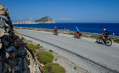 Biking on Amorgos Island, Greece. Photo via TO