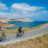 Biking on Astypalaia Island, Greece. Photo via TO