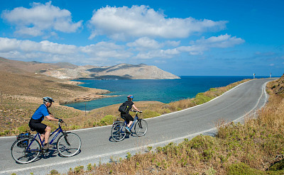 Biking on Astypalaia Island, Greece. Photo via TO