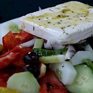 Greek salad on Kalymnos Island, Greece. Flickr:Pug Girl