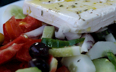 Greek salad on Kalymnos Island, Greece. Flickr:Pug Girl