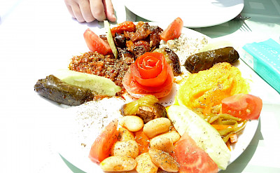 Meze, traditional Mediterranean appetizers, in Turkey! Flickr:Maria