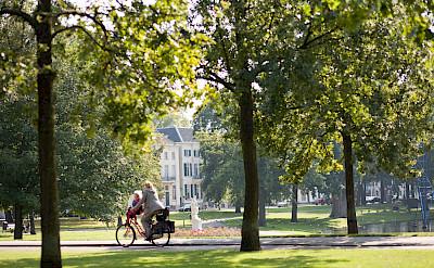 Biking in Arnhem, the Netherlands.