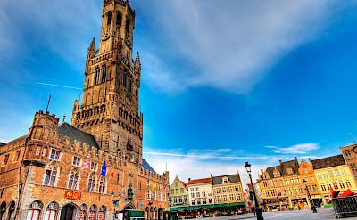 Main square and belfort in Bruges, West Flanders, Belgium. Flickr:Wolfgang Staudt