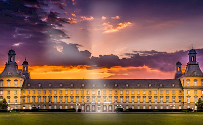 University of Bonn (birthplace of Ludwig van Beethoven in 1770) along the Rhine in Germany. Flickr:Thomas