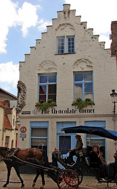 Chocolate shop in Bruges, West Flanders, Belgium. Flickr:raider of gin