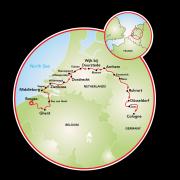 Bruges to Cologne Map