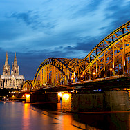 Hohenzollern Bridge over the Rhine River in Cologne, Germany. Flickr:Anja Pietsch